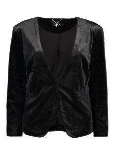 Only Blazer onlCHANETTE VELVET 7/8 BLAZER TLR 15143648 Black/Silver Gli