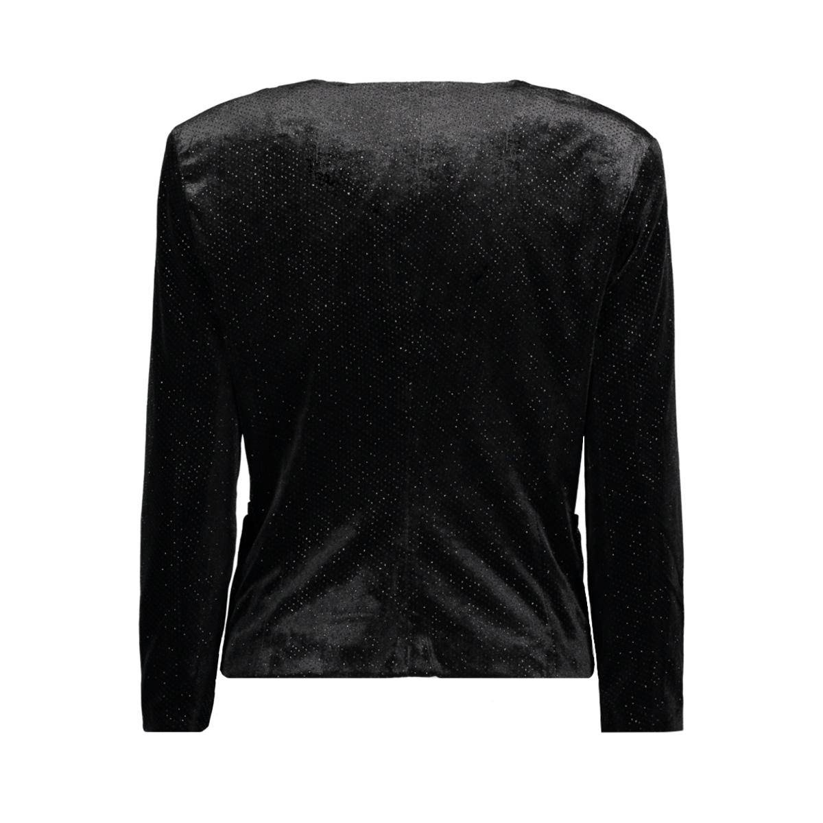 onlchanette velvet 7/8 blazer tlr 15143648 only blazer black/silver gli