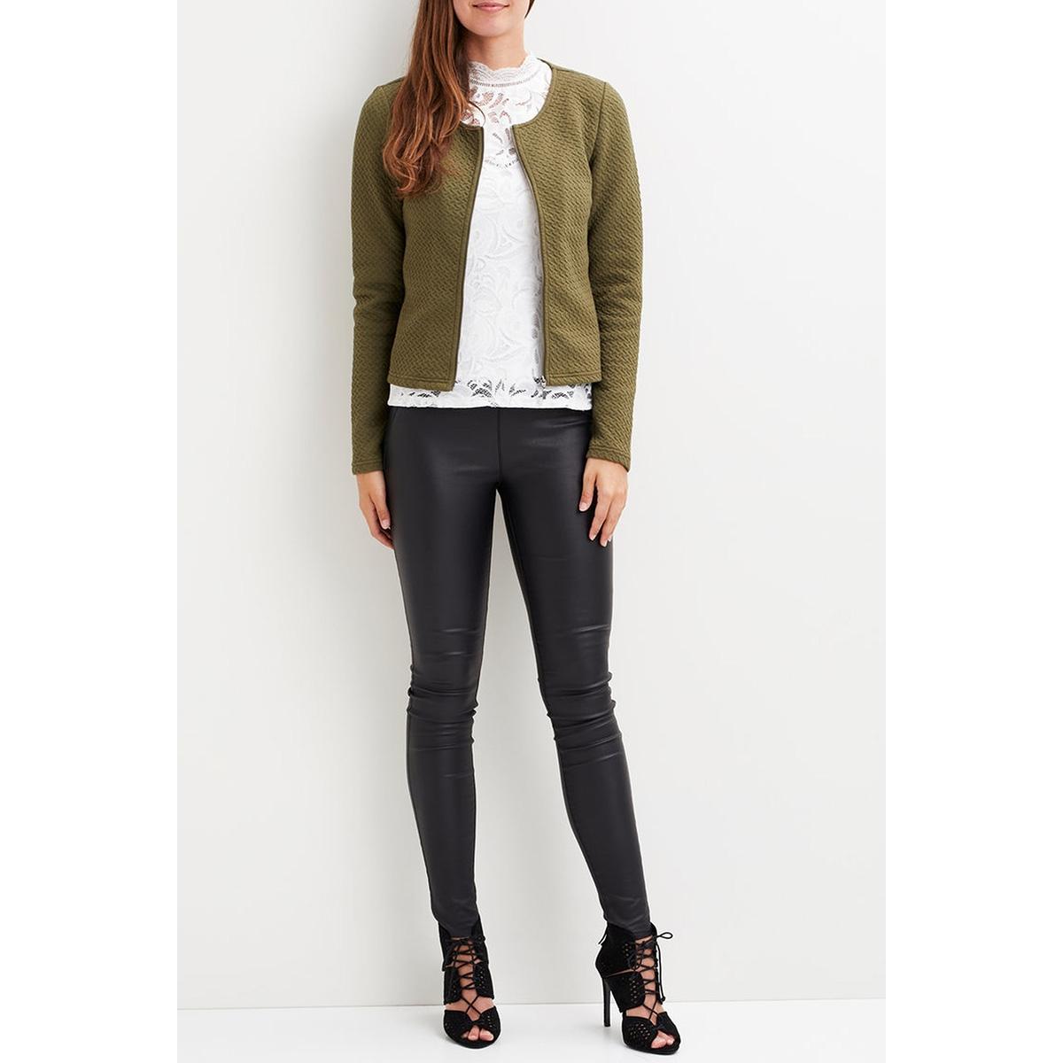 vinaja new short jacket-fav 14043895 vila vest ivy green