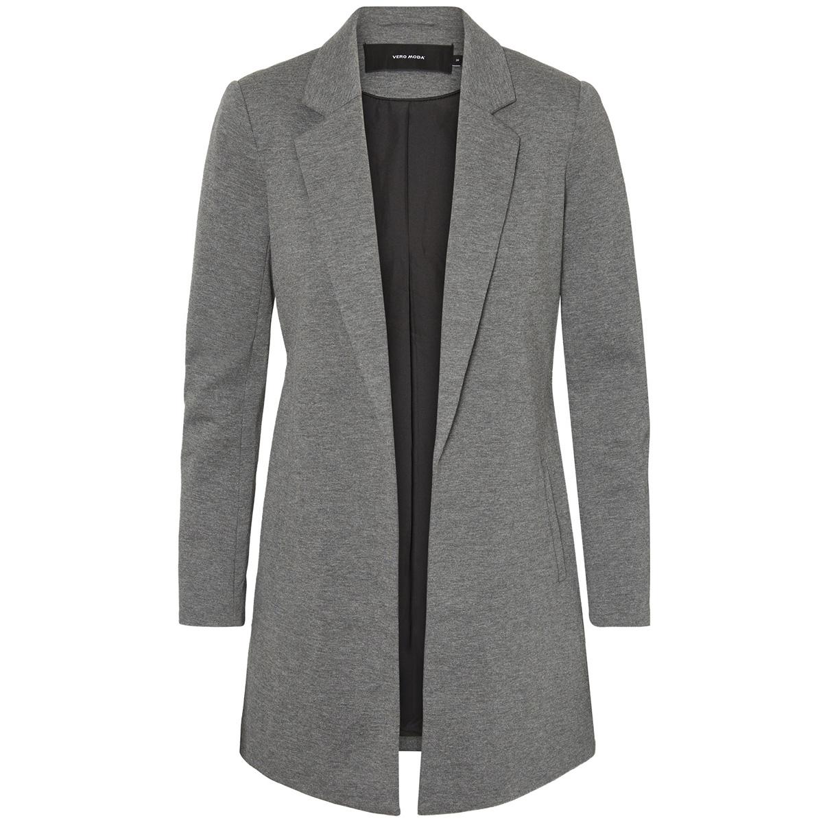 vmnova long jersey blazer exp 10199848 vero moda blazer medium grey melange