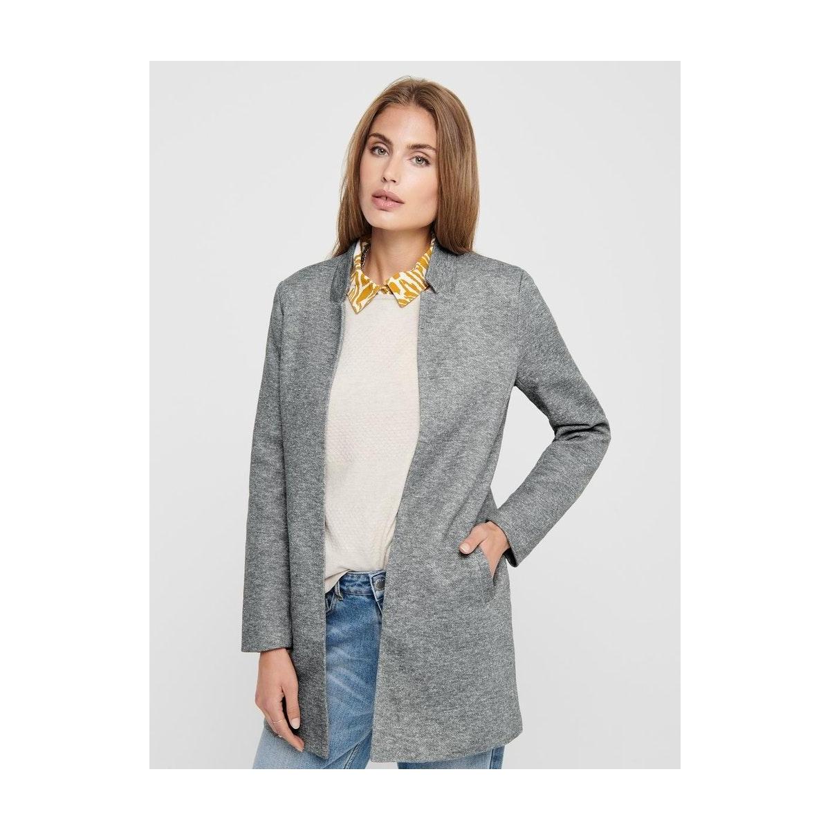 onlsoho coatigan noos tlr 15149366 only blazer light grey melange