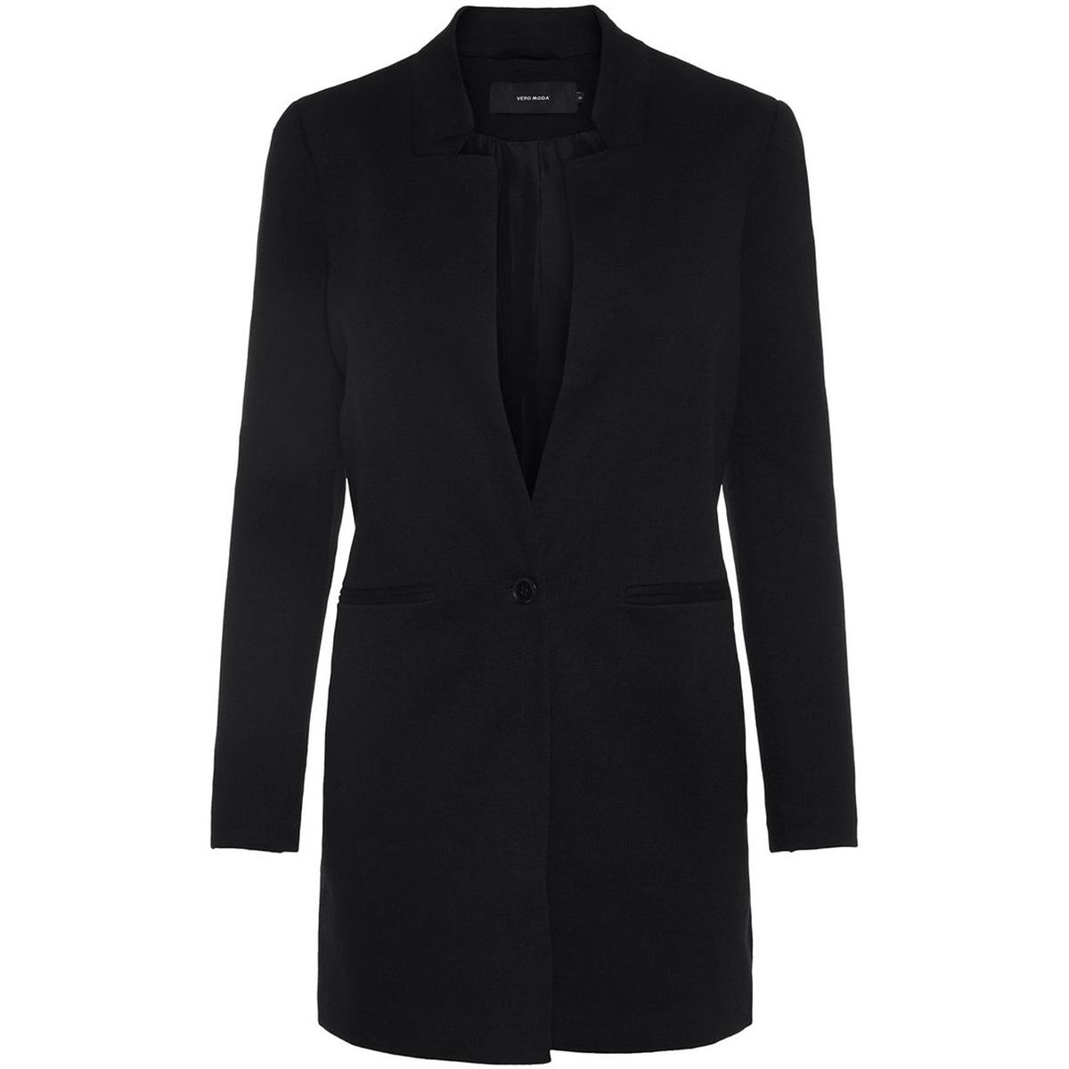 vmjune w/l long blazer dnm color 10205517 vero moda blazer black