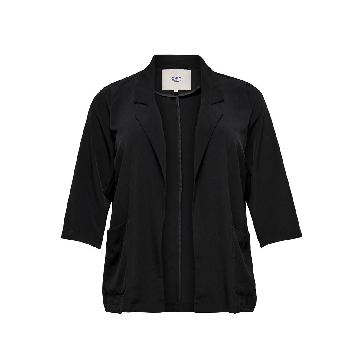 carbarbra 3/4 blazer 15167168 only carmakoma blazer black