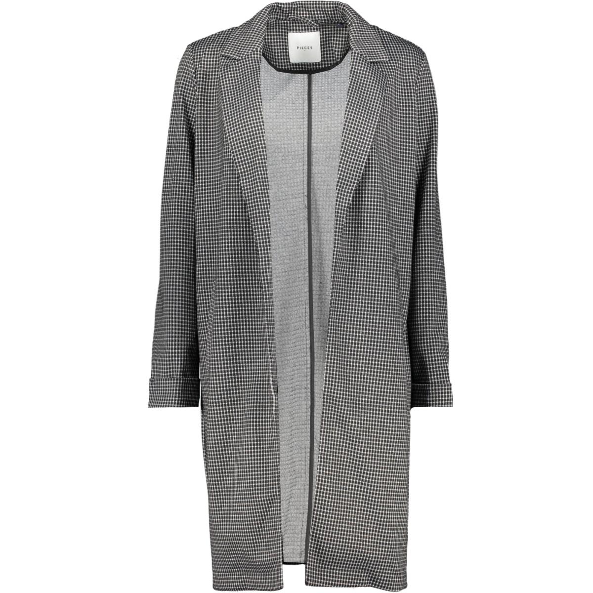 pclori coatigan noos 17093437 pieces vest black/houndstoot