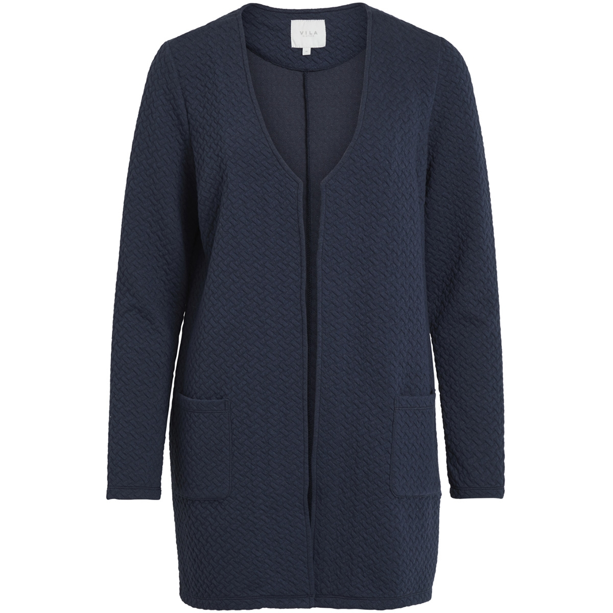 vinaja v-neck pocket l/s jacket-fav 14050571 vila vest total eclipse