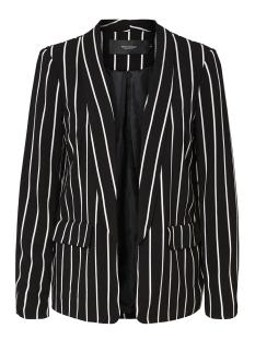vmstriped blazer exp 10202490 vero moda blazer black/snow white