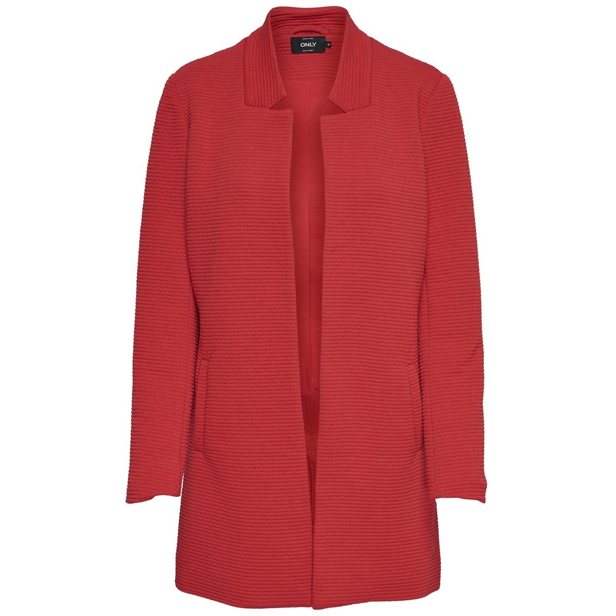 onllink soho l/s coatigan cc tlr 15166750 only vest high risk red/solid