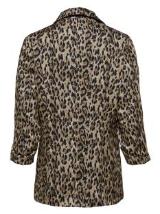 onlkarla anna 3/4 aop blazer tlr 15179680 only blazer black/ leo