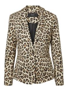 vmvictoria ls print blazer 10214695 vero moda blazer chipmunk/leopard