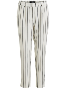 Object Broek OBJEVA SIRINGO MW PANT 103 23029545 Gardenia/W. BLACK STRIPES