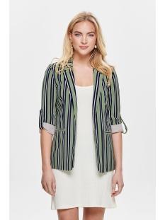 onlrose 4/5 aop blazer tlr 15169211 only blazer oil green/bright white