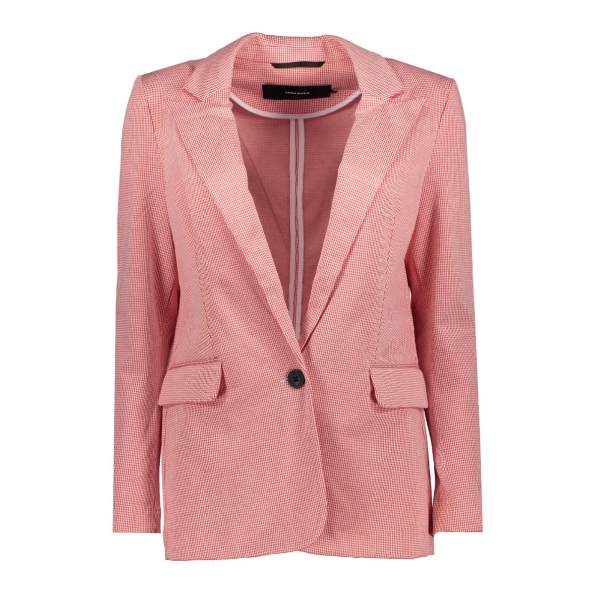vmtoni 7/8 blazer 10211601 vero moda blazer fiery red/with prist