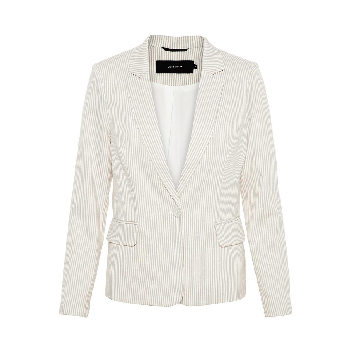 vmgally 7/8 blazer 10214319 vero moda blazer oatmea/snow white