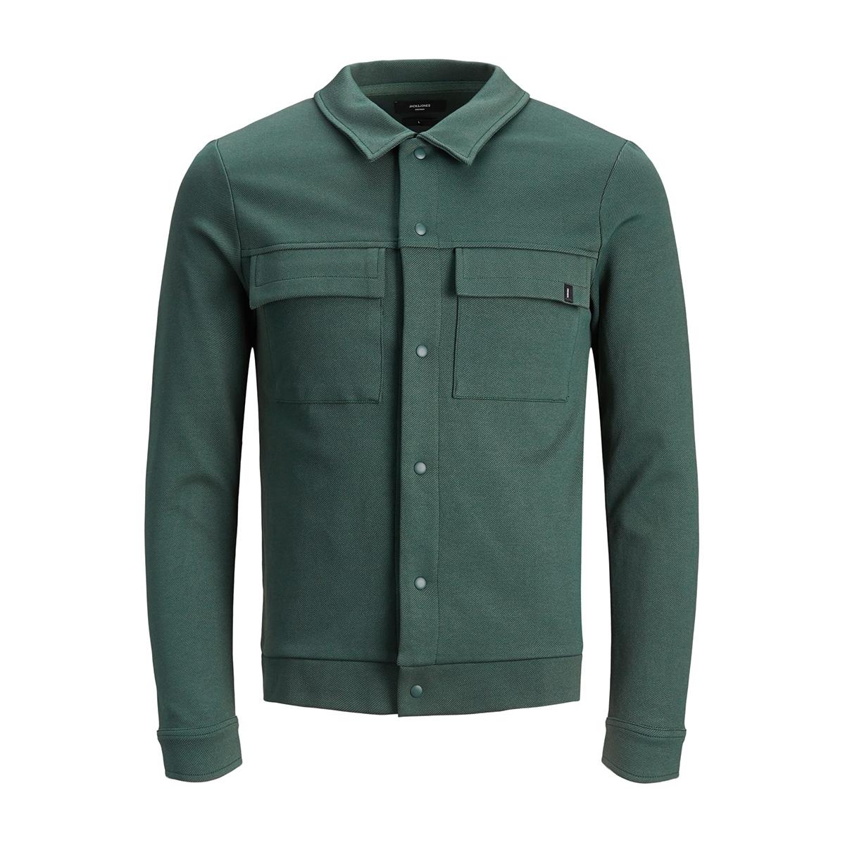 jprhal bla. sweat jacket 12159229 jack & jones jas darkest spruce/slim fit