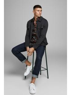 jprhal bla. sweat jacket 12159229 jack & jones jas black/slim fit