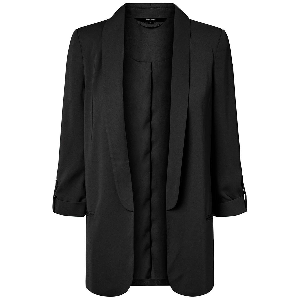 vmyiki 3/4 sleeve  blazer exp 10203389 vero moda blazer black