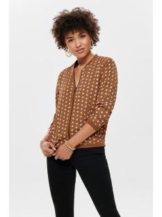 onlnova lux bomber jacket aop 6 wvn 15193429 only jas ginger bread/pretty dot