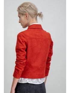 suedine biker jacket gs900792 garcia jas 3497 rosso