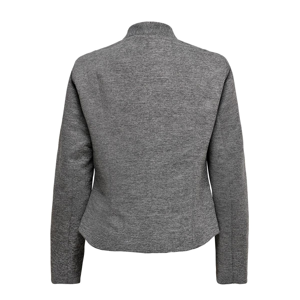 onllinda l/s short fitted blazer cc 15178688 only blazer medium grey melange