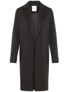 pclori coatigan noos 17093437 pieces vest black/ pin stripes