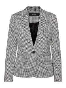 Vero Moda Blazer VMVICTORIA LS PRINT BLAZER 10214695 Black/WHITE HOUN