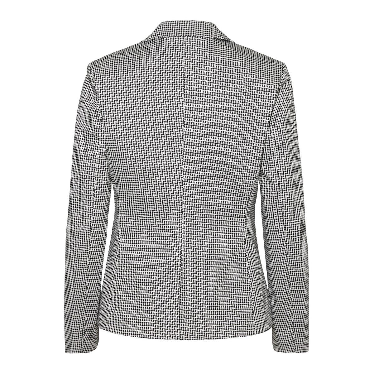 vmvictoria ls print blazer 10214695 vero moda blazer black/white houn