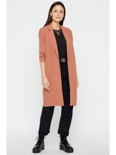 pckana ls coatigan noos 17100712 pieces blazer copper brown