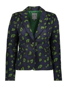 Geisha Blazer BLAZER LEOPARD 95500 Navy/Green