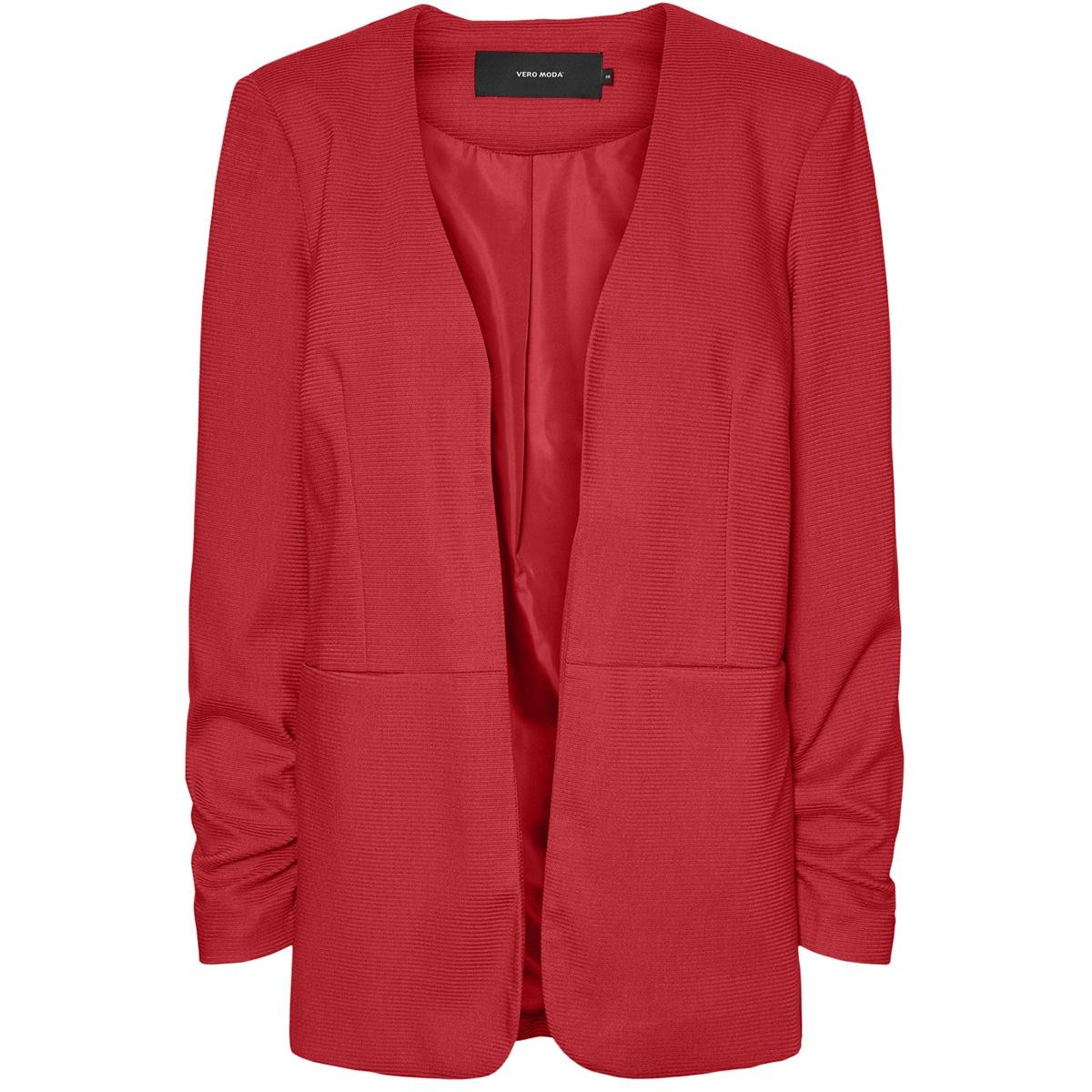 vminez ls long blazer 10223030 vero moda vest goji berry