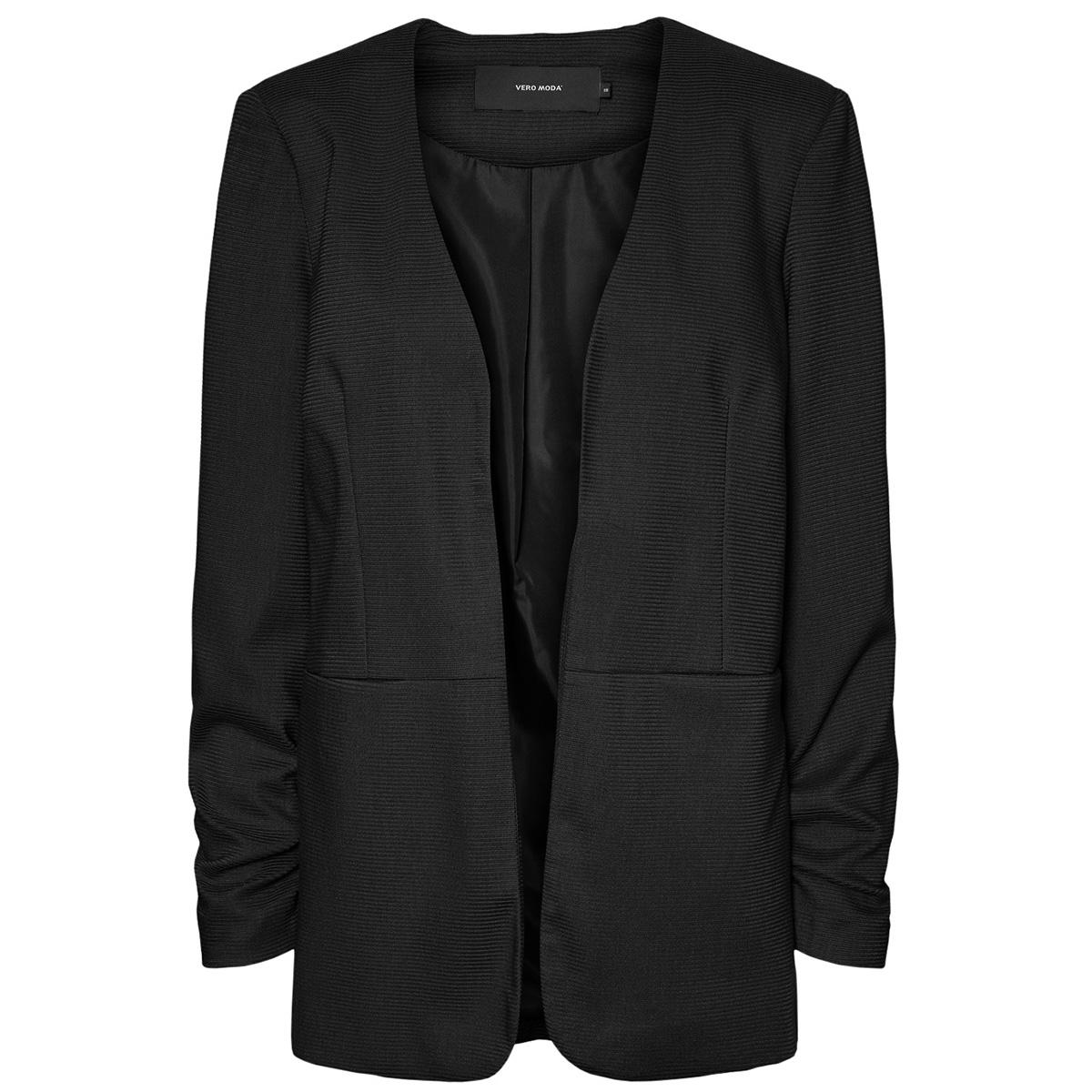 vminez ls long blazer 10223030 vero moda vest black