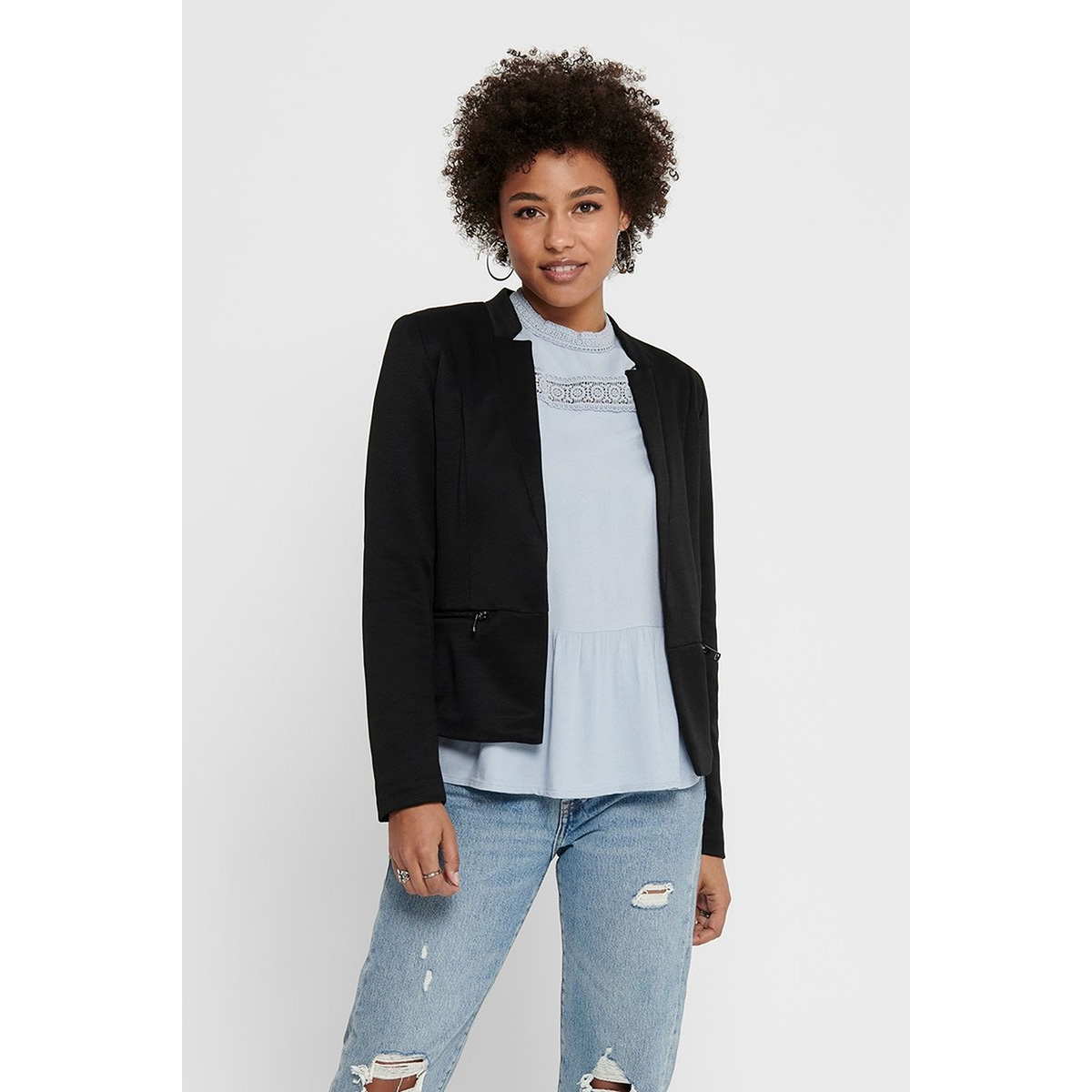 onlmaddy-icon l/s short blazer cc t 15191458 only blazer black/w. black