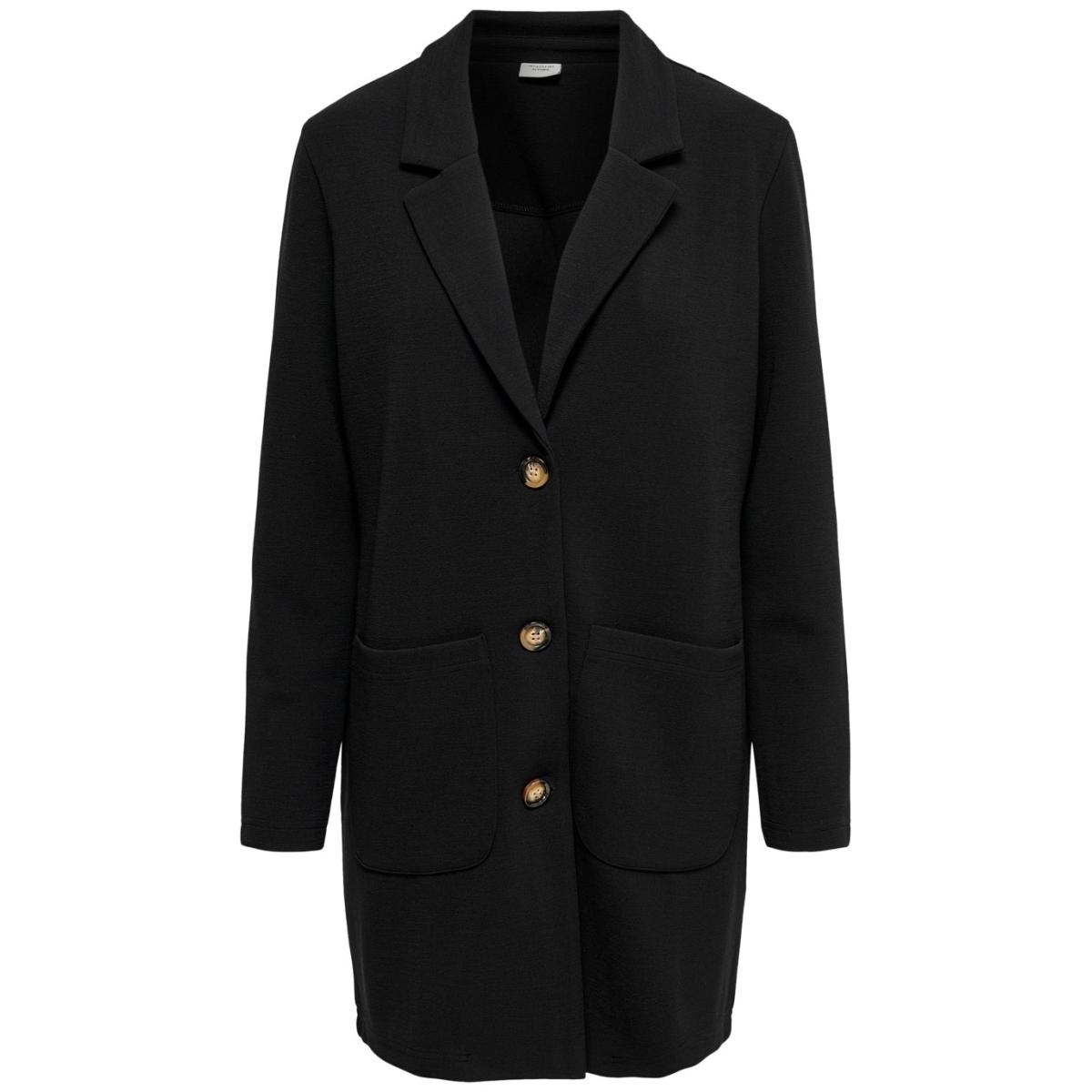jdystone l/s spring jacket jrs 15196900 jacqueline de yong jas black/horn buttons