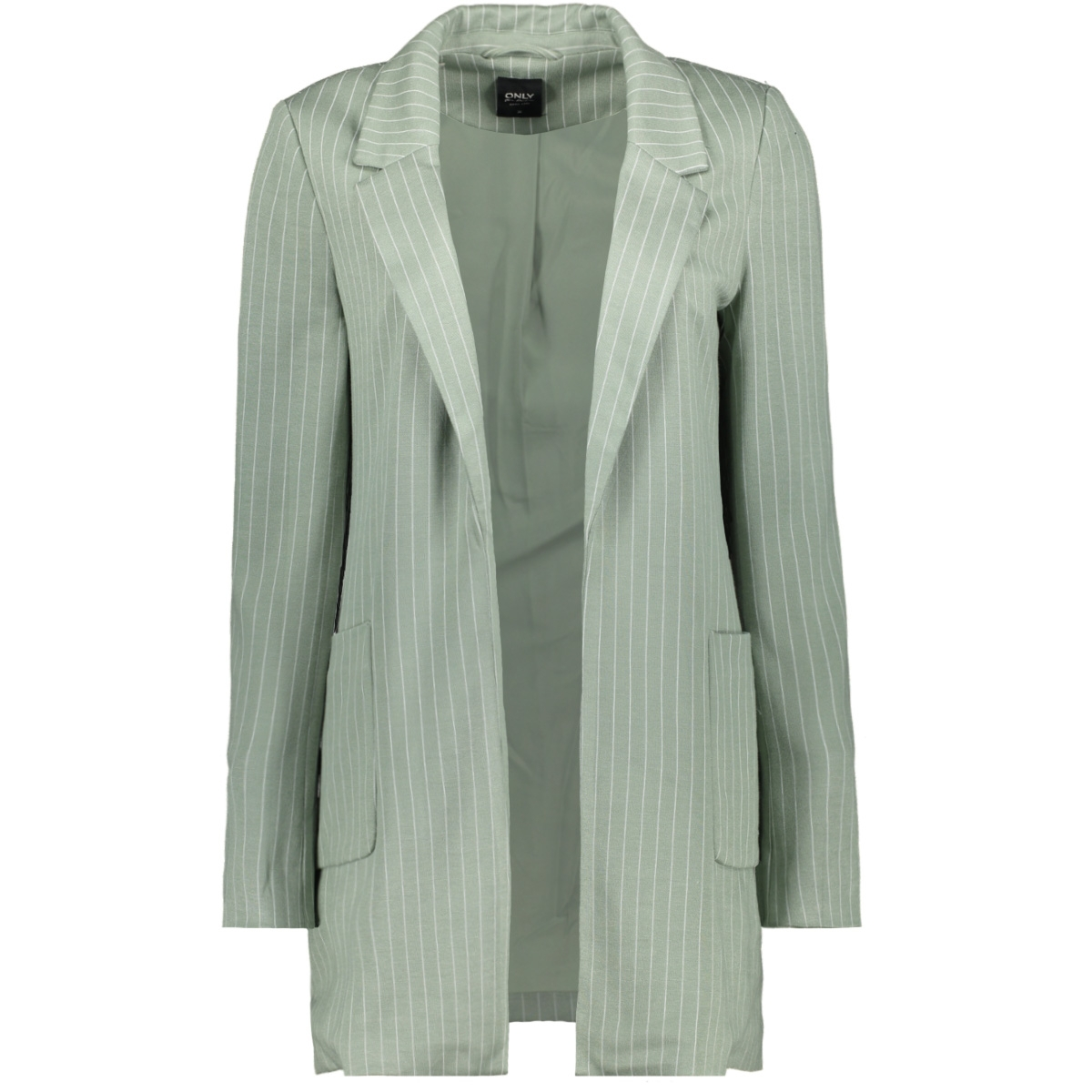 onlbaker-aubree l/s stripe coatigan 15197095 only blazer iceberg green mel/cloud dancer