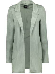 Only Blazer ONLBAKER-AUBREE L/S STRIPE COATIGAN 15197095 Iceberg Green Mel/CLOUD DANCER