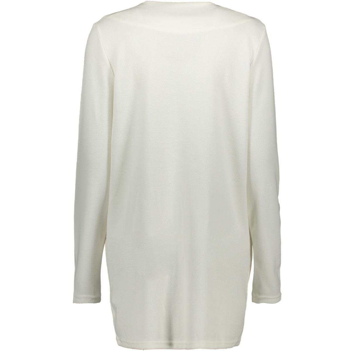 visavia l/s coatigan - fav 14056202 vila vest snow white