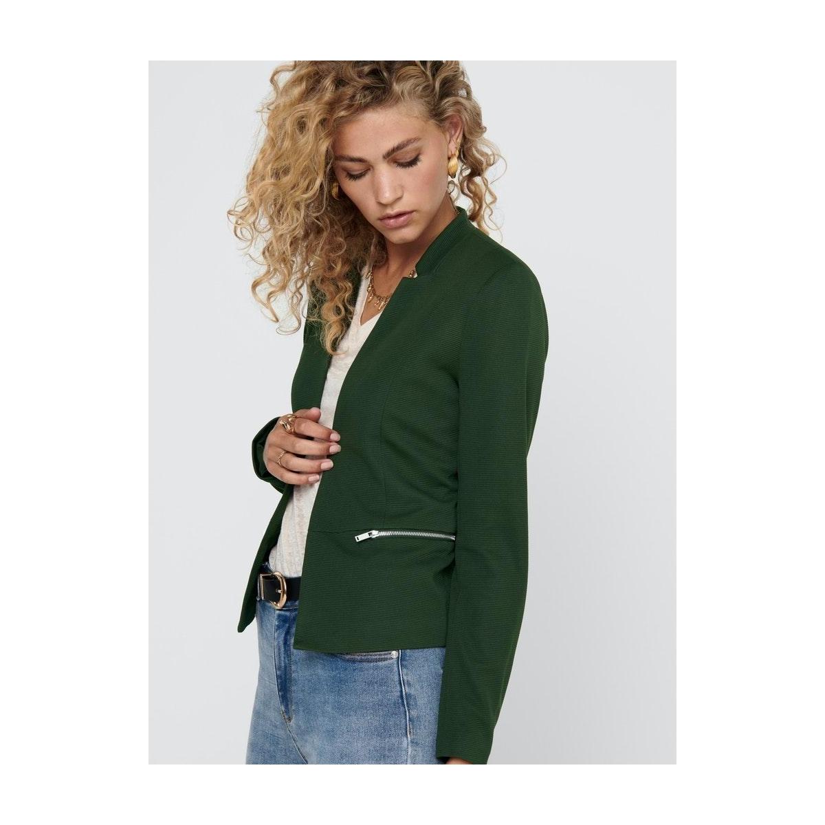 onlmaddy-anna life l/s zip blazer c 15206511 only blazer rosin