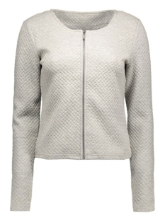 vinaja new short jacket 14032657-1 vila vest light grey melange