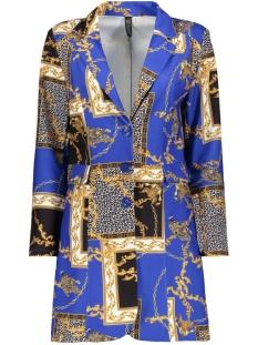 IZ NAIZ Blazer 3428 LONG BLAZER CHAIN PRINT BLUE