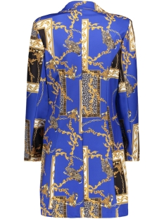 3428 long blazer chain print iz naiz blazer blue