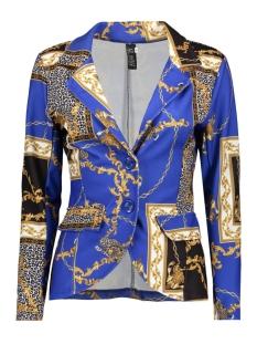 IZ NAIZ Blazer 3254 SHORT BLAZER CHAIN PRINT BLUE