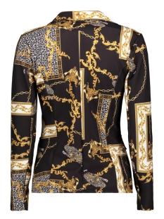 3254 short blazer chain print iz naiz blazer black