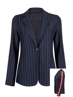 Zoso Blazer PINSTRIPE BLAZER HR1933 NAVY/ORANGE RED