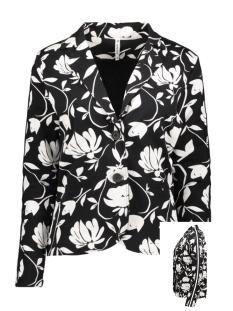 Zoso Blazer TESSA 194  PRINT SWEAT BLAZER BLACK/OFFWHITE