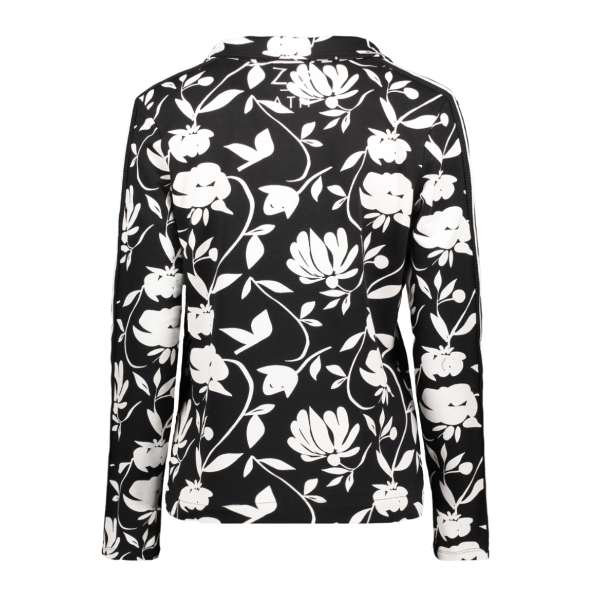 tessa 194  print sweat blazer zoso blazer black/offwhite