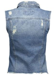 onlria cropped dnm waistcoat bj4951 15116582 only gilet light blue denim