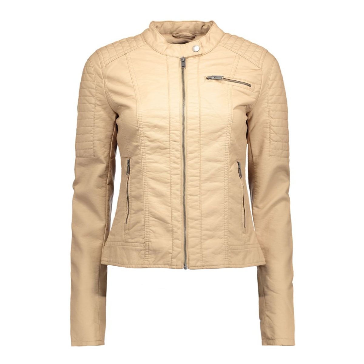 onlnew start faux leather jacket cc 15119515 only jas warm taupe