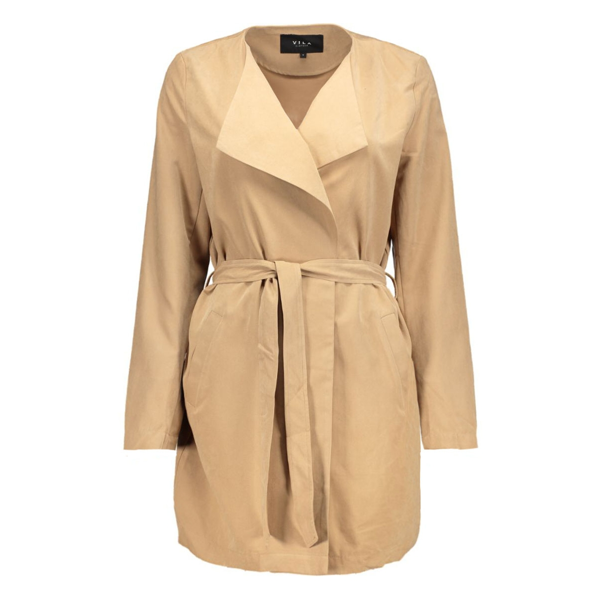 vican coat tb 14036538 vila jas dusty camel