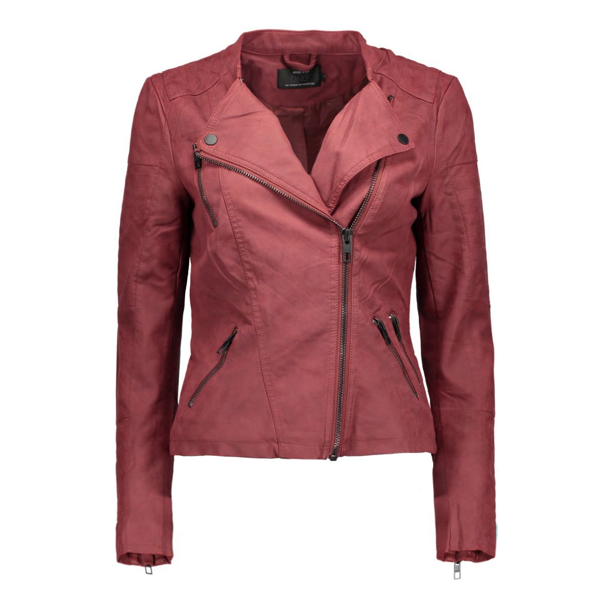 onlava faux leather biker otw noos 15102997 only jas syrah