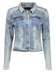 onlchris emb dnm jacket bj 15119432 only jas light blue dennim