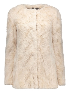 VMCURL LONG FAKE FUR JACKET LCS 10161534 Oatmeal